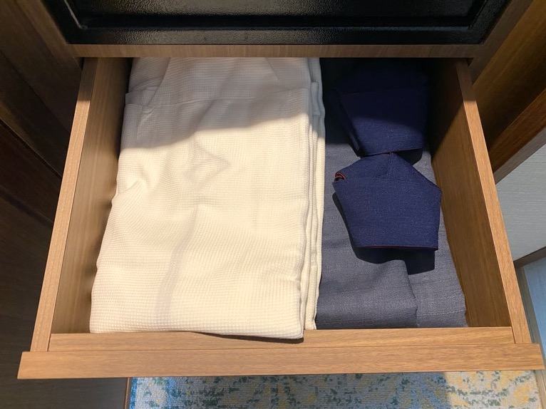 ホテル雅叙園東京「エグゼクティブスイート」:パジャマ&浴衣