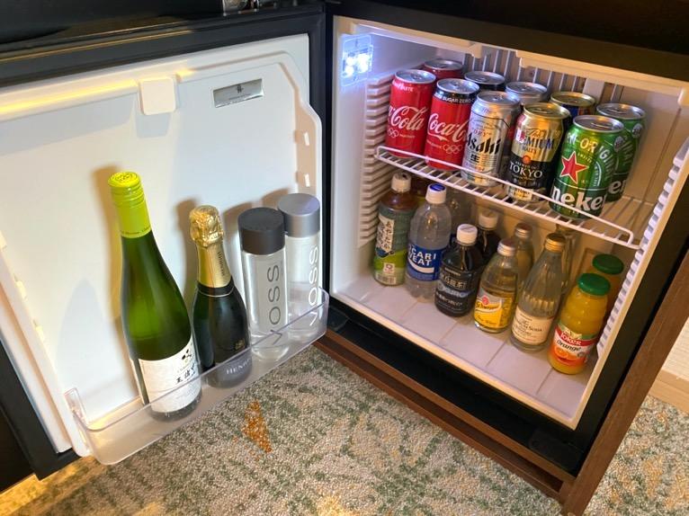 ホテル雅叙園東京「エグゼクティブスイート」:冷蔵庫