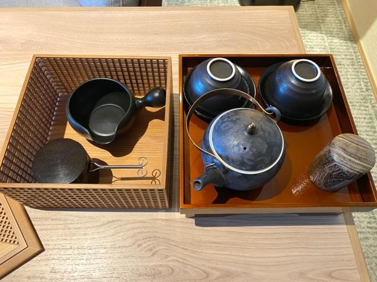 ホテル雅叙園東京「エグゼクティブスイート」:茶器