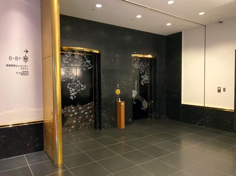 ホテル雅叙園東京:エレベーター(外観)