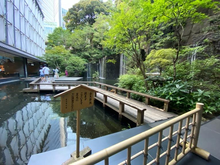 ホテル雅叙園東京:日本庭園(池)