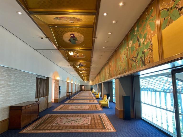 ホテル雅叙園東京:披露宴会場(廊下)
