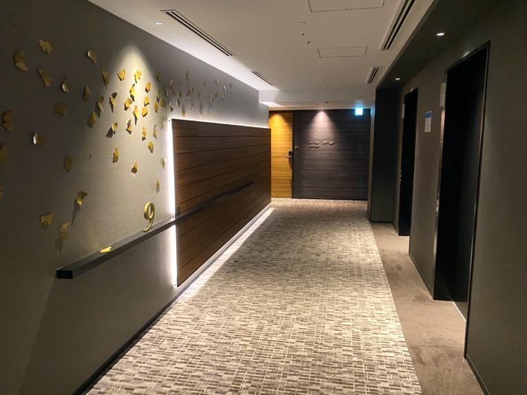 三井ガーデンホテル神宮外苑の杜プレミア「内廊下」