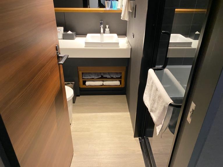 「モデレート」の客室:バスルーム