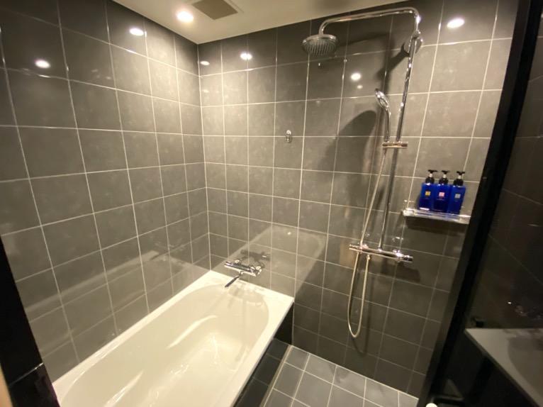 「モデレート」の客室:バスタブ&シャワー