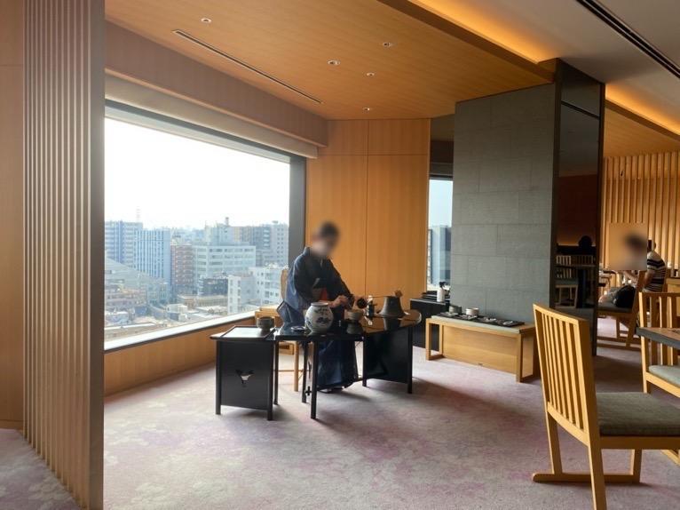 ホテル雅叙園東京「クラブラウンジ」のお点前コーナー