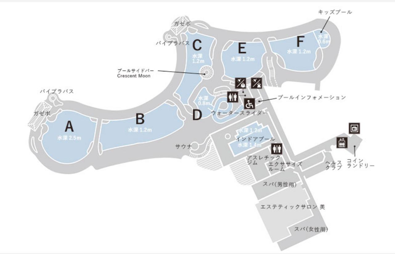 マリオット沖縄「プール」:マップ(地図)