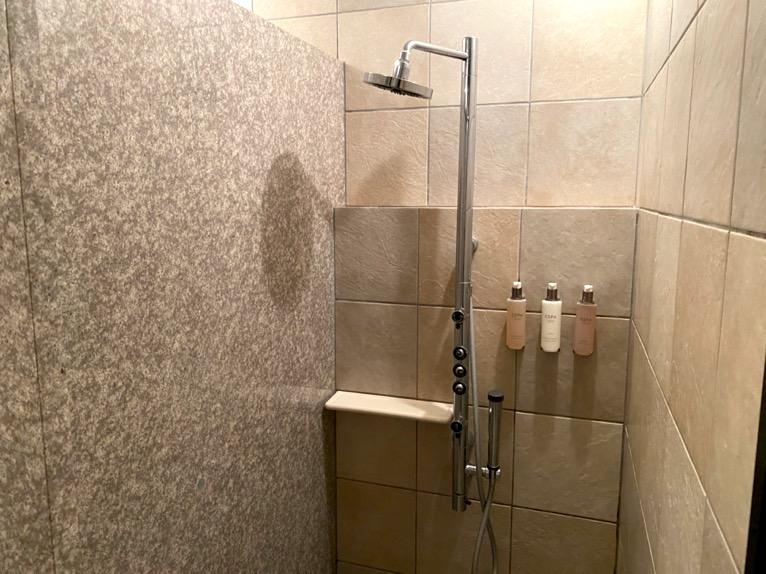 ザ・リッツ・カールトン沖縄「屋内プール」:シャワー