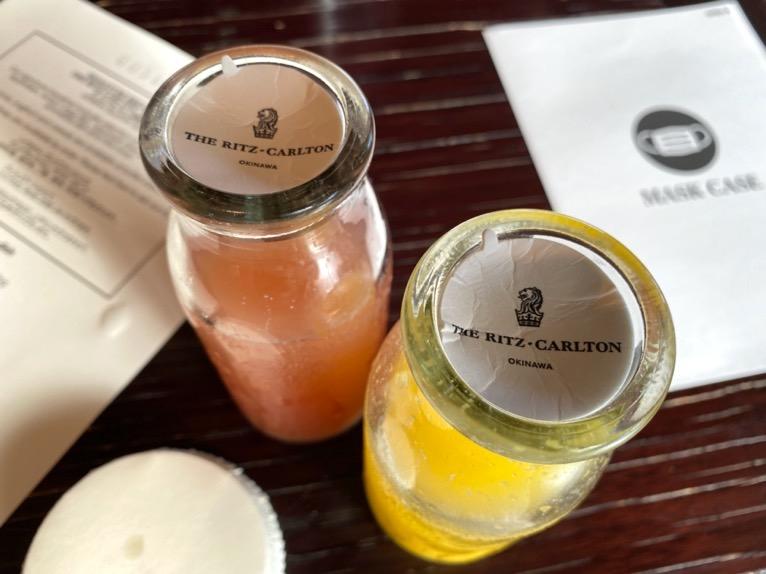 ザ・リッツ・カールトン沖縄の朝食:フルーツジュース