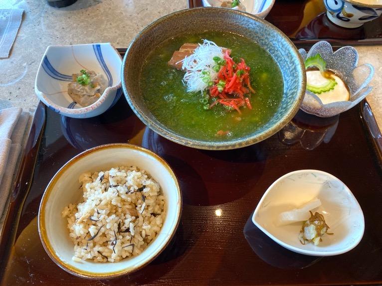 ザ・リッツ・カールトン沖縄「ランチ」:あーさーそば定食