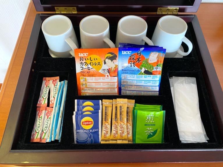 オキナワ マリオット リゾート&スパ「客室」:コーヒー&紅茶
