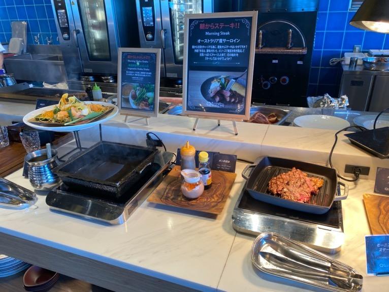 オキナワ マリオット リゾート&スパの朝食「クワッチー」:ステーキコーナー