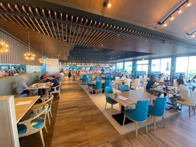 オキナワ マリオット リゾート&スパの朝食「クワッチー」:店内の雰囲気