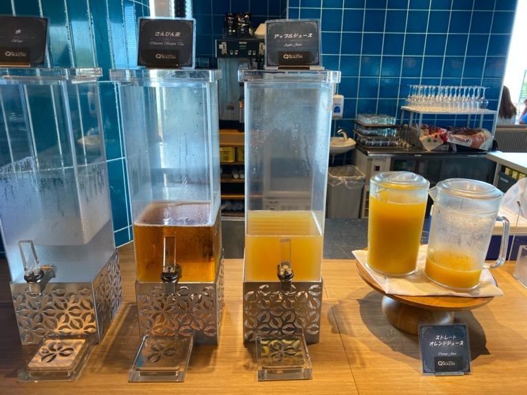 オキナワ マリオット リゾート&スパの朝食「クワッチー」:ソフトドリンク