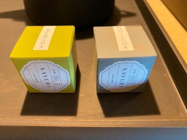 東京エディション虎ノ門「客室(デラックスルーム)」:日本茶