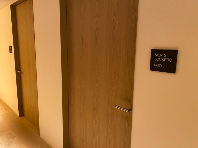 東京エディション虎ノ門「プール」:入り口