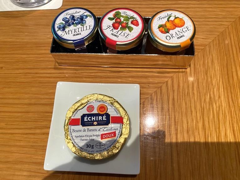 ザ・キャピトルホテル東急の朝食「洋食」:ジャム&バター