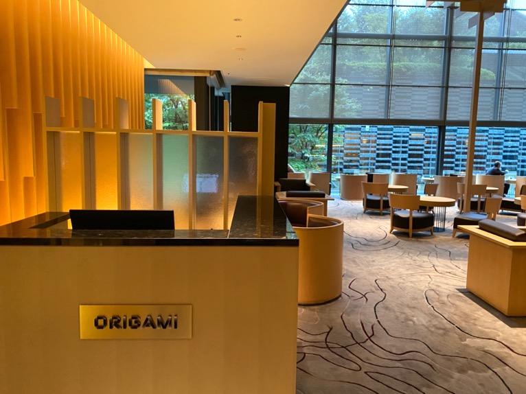 レストラン「オリガミ (ORIGAMI)」:入口(カフェ)