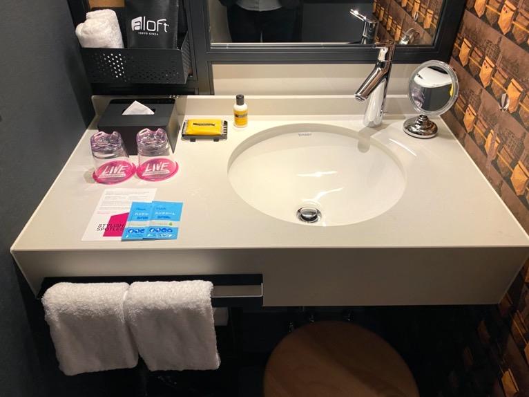 アロフト東京銀座「客室」:洗面台