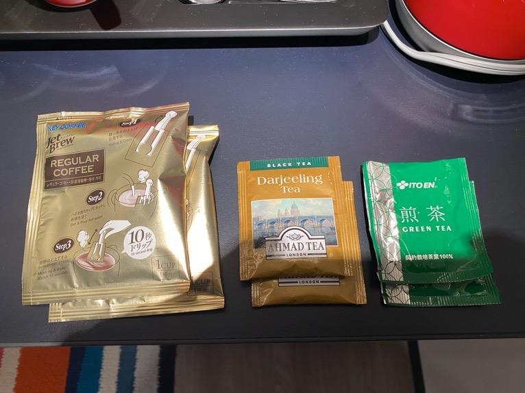 アロフト東京銀座「客室」:コーヒー、紅茶、日本茶