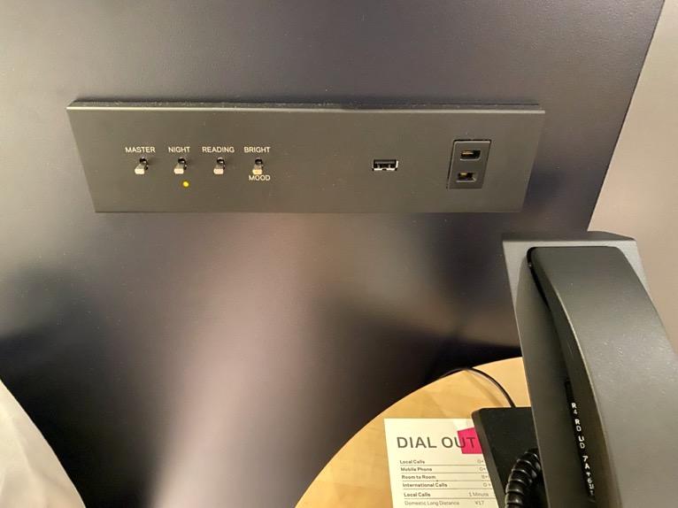 アロフト東京銀座「客室」:コントロールボタン