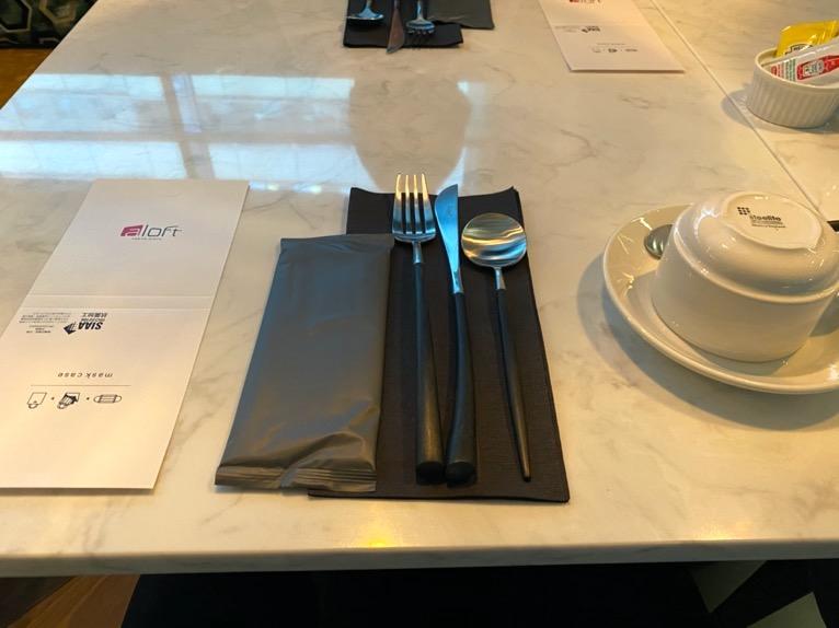 アロフト東京銀座の朝食「いただいたもの」:カトラリー