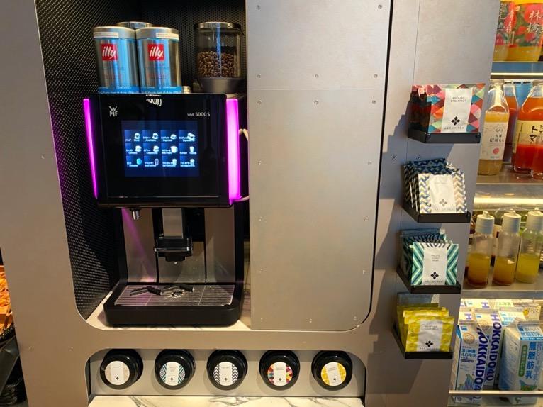 アロフト東京銀座の朝食「ビュッフェ」:コーヒー&紅茶
