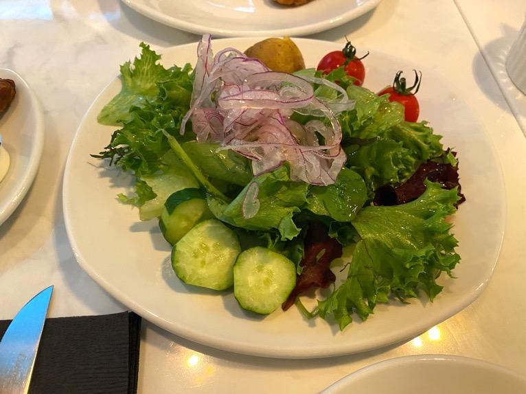 アロフト東京銀座の朝食「いただいたもの」:サラダ