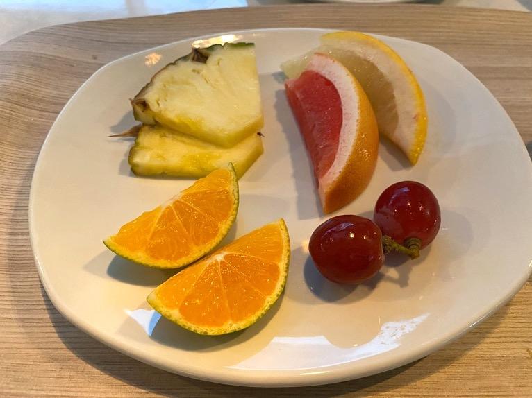 アロフト東京銀座の朝食「いただいたもの」:フルーツ