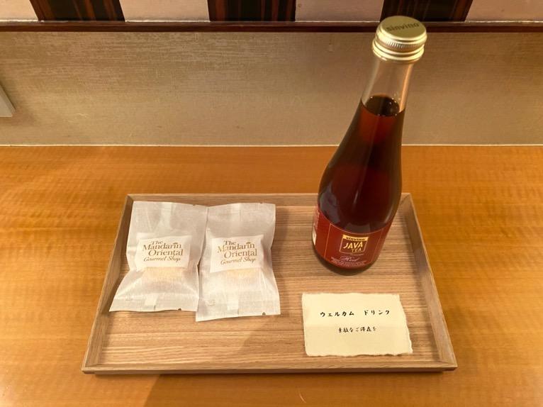 マンダリンオリエンタル東京「客室」:ウェルカムドリンク1