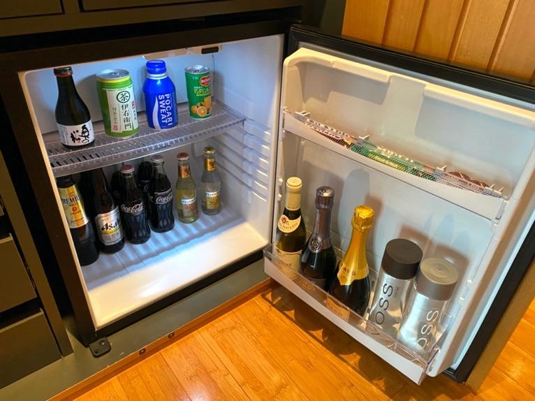 マンダリンオリエンタル東京「客室」:冷蔵庫
