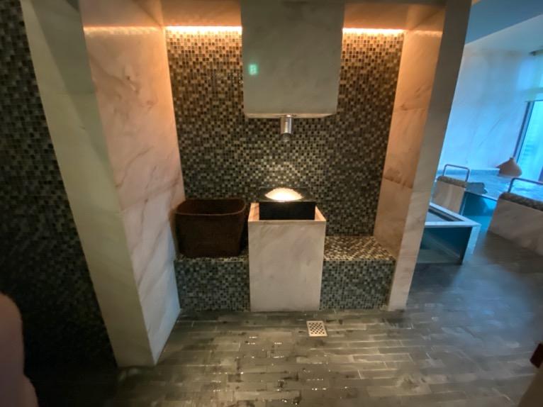 マンダリンオリエンタル東京の温浴施設:大浴場(アイスファウンテン)