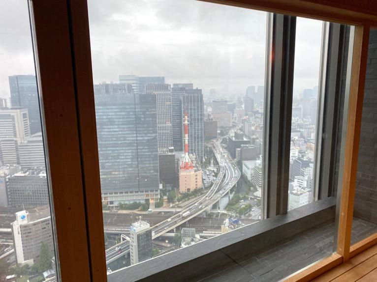 マンダリンオリエンタル東京の温浴施設:大浴場(眺望)