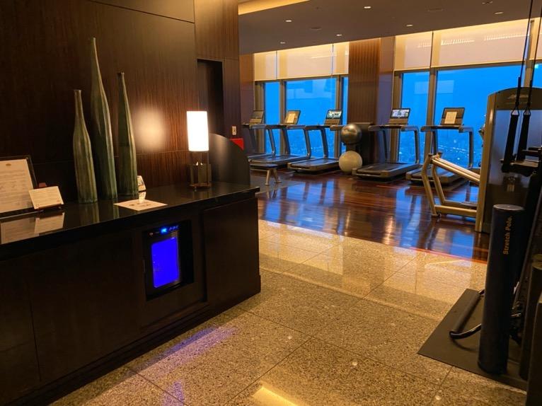 マンダリンオリエンタル東京の温浴施設:ジム(レセプション)
