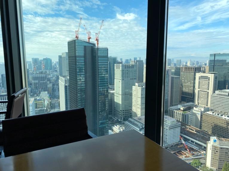 マンダリンオリエンタル東京の朝食:レストラン「ケシキ」の眺望