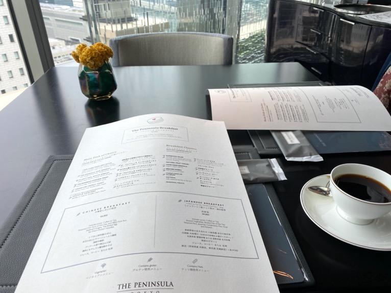 ザ・ペニンシュラ東京の朝食「Peter(ピーター)」:メニュー