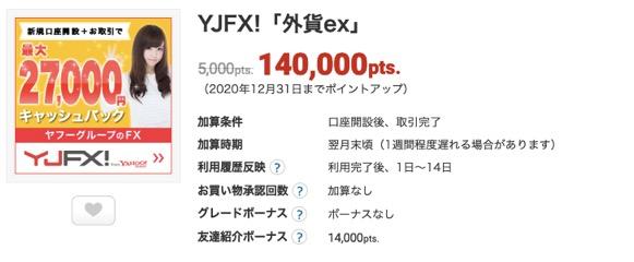 ECナビのオススメ案件(YJFX)