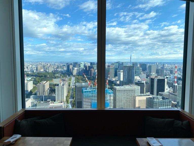 アンダーズ東京の朝食:眺望1