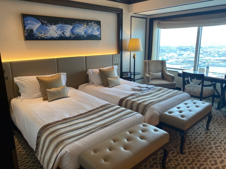 横浜ロイヤルパークホテル「客室」:ベッド