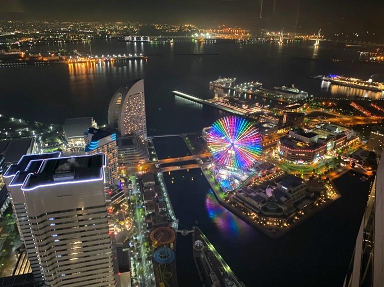 横浜ロイヤルパークホテル「客室」:夜景