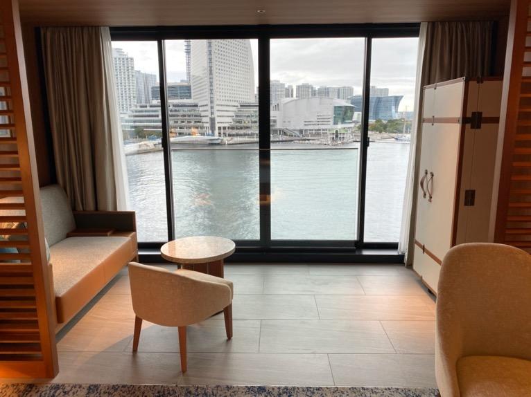 インターコンチネンタル横浜Pier8「客室」:窓
