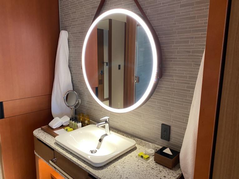 インターコンチネンタル横浜Pier8「客室」:洗面台