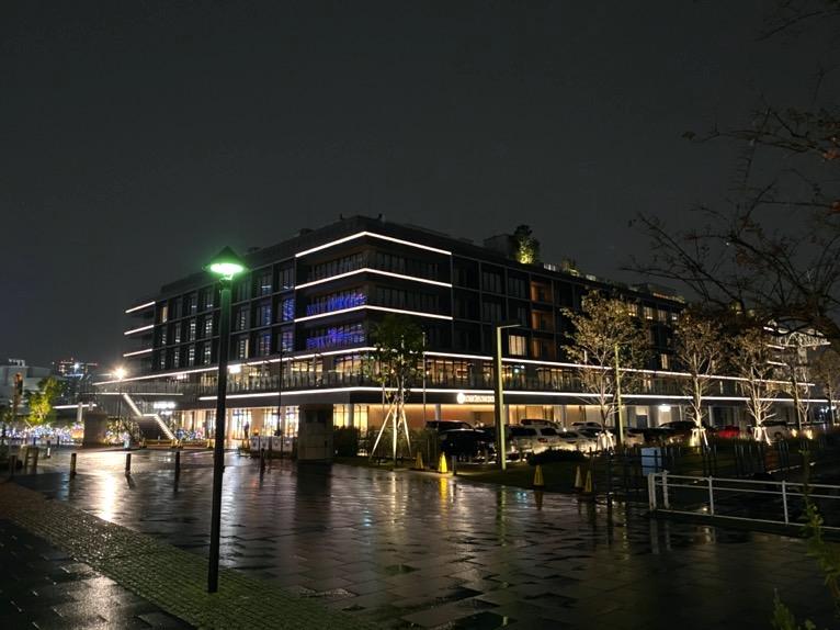 インターコンチネンタル横浜Pier8のクルーズ「利用した感想」:ホテルの外観