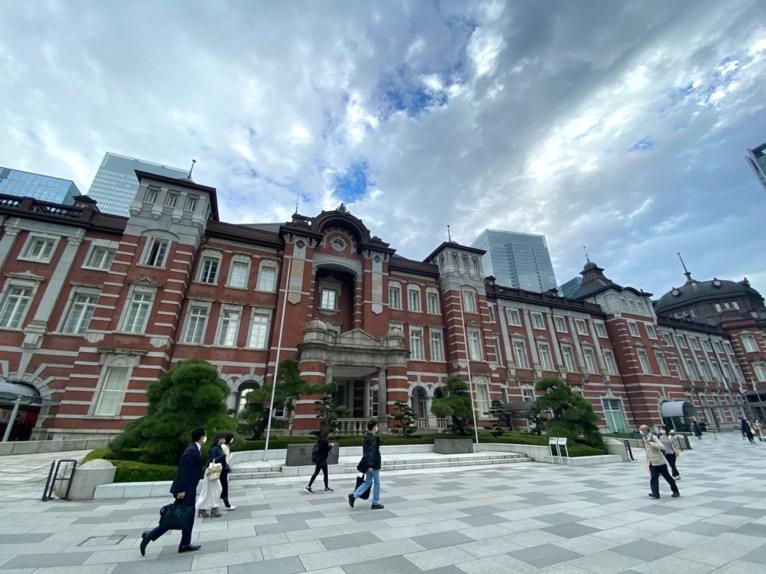 無料巡回バスを体験レポート:バス停の場所(東京駅南口)1