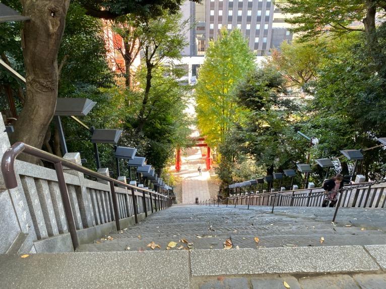 東京エディション虎ノ門「朝食後の散策」:愛宕神社(出世の階段2)