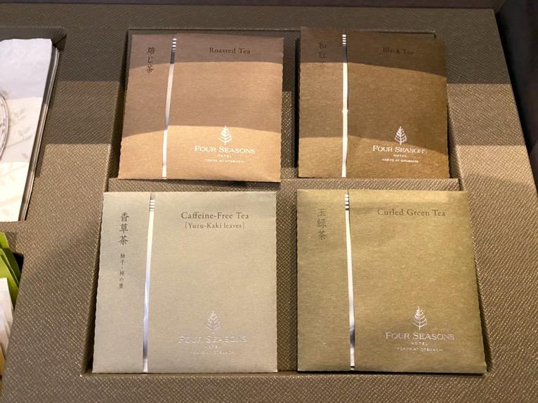 フォーシーズンズ東京大手町「客室」:日本茶(SABOE、さぼえ)