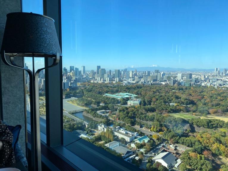 フォーシーズンズホテル東京大手町の朝食:ピニートからの眺望2