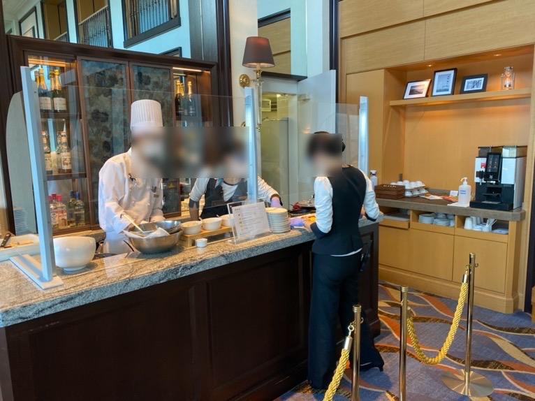 横浜ロイヤルパークホテルのクラブラウンジ「朝食」:エッグステーション1