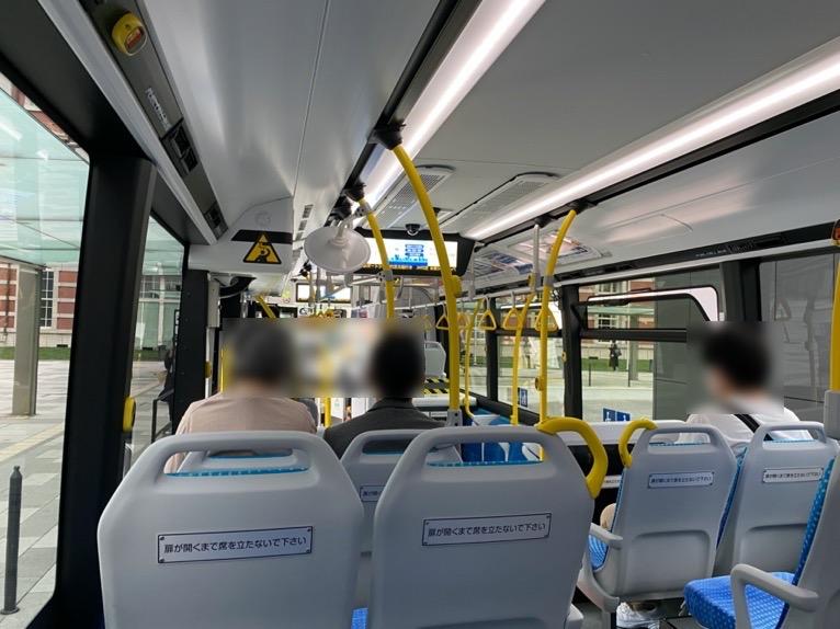 無料巡回バスを体験レポート:バスの内観1