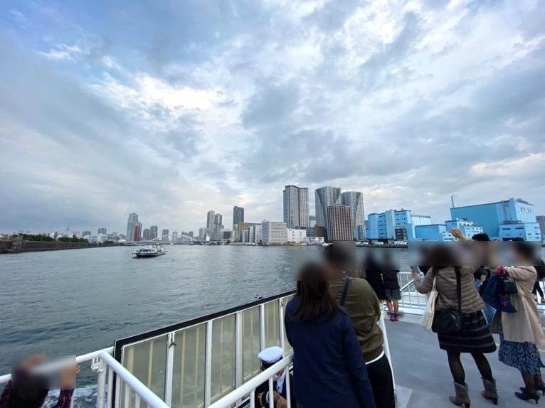 水上バス(定期運行線)を体験レポート:デッキからの眺望1